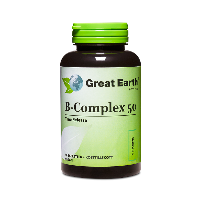 B-Complex 50 - Great Earth Scandinavia - Piggabutiken.se