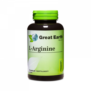 Sporttillskott - L-Arginine - Great Earth - Piggabutiken.se