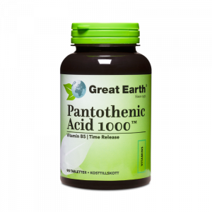 B5 Pantotensyra - Pantothenic Acid - Great Earth - Piggabutiken.se