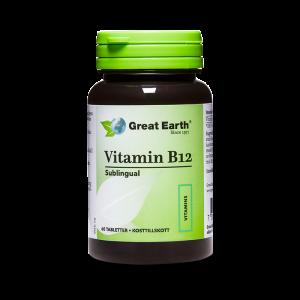 Vitamin B12 (Sublingual) - Great Earth Scandinavia - Piggabutiken.se