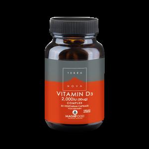 D3-vitamin Complex Vegan 50ug - TerraNova - Piggabutiken.se