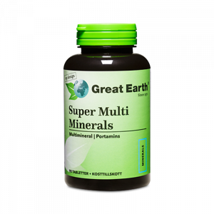 Super Multi Minerals Regular - Great Earth Scandinavia - Piggabutiken.se
