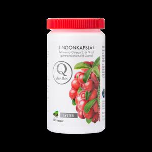 Vitaminer & Omega 3,6 - Lingonkapslar - Q for skin - Piggabutiken.se