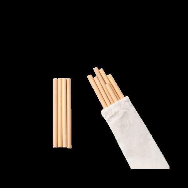 Sugrör av Bambu (4-pack)