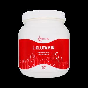 L-glutamin 400g - kosttillskott - Alpha Plus