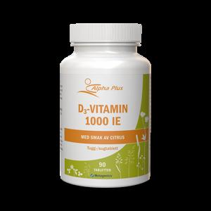 Tugg-/Sugtablett - D3-vitamin
