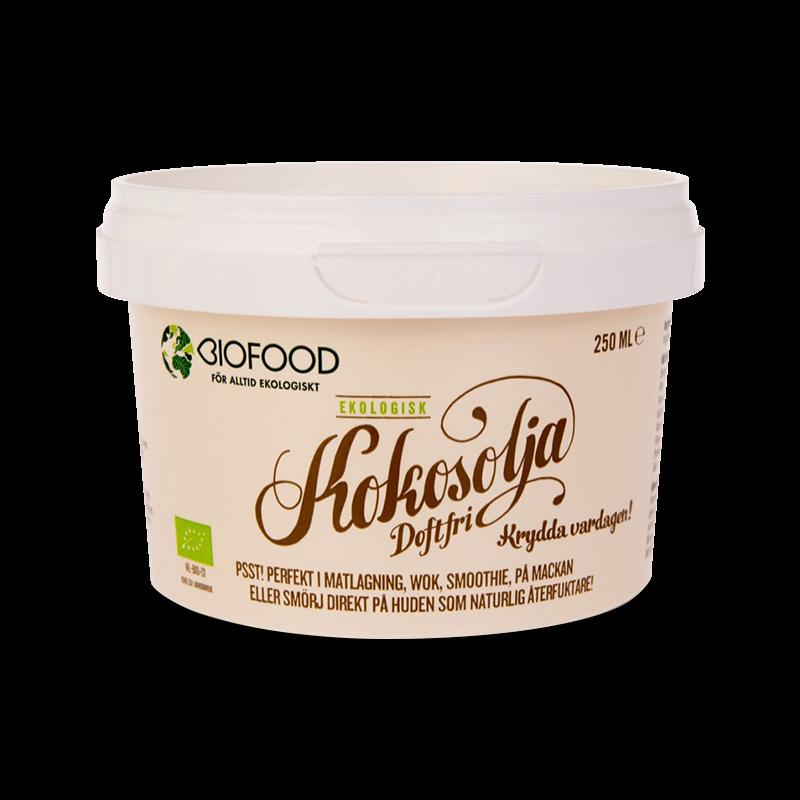 Ekologisk Kokosolja doftfri - Biofood - Piggabutiken.se