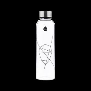 Vattenflaska - Clear Black