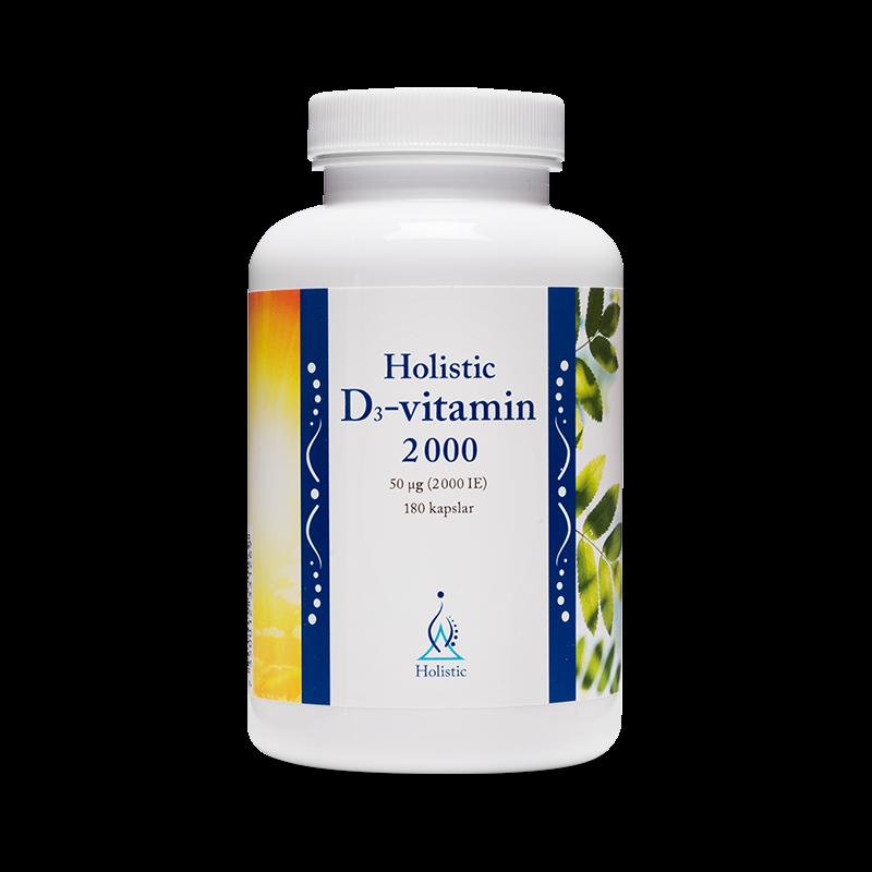 Vitaminer - D3-Vitamin Kapslar (2000 IE) - Holistic - Piggabutiken.se