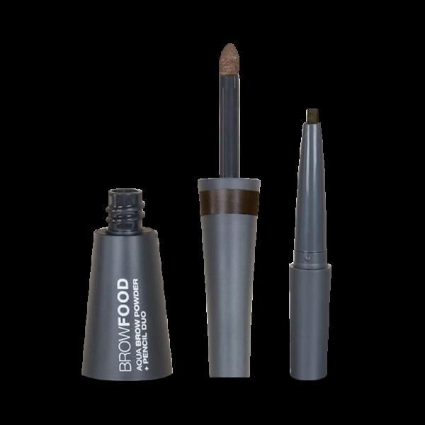 Aqua Brow Powder & Pencil Duo - Dark Brunette