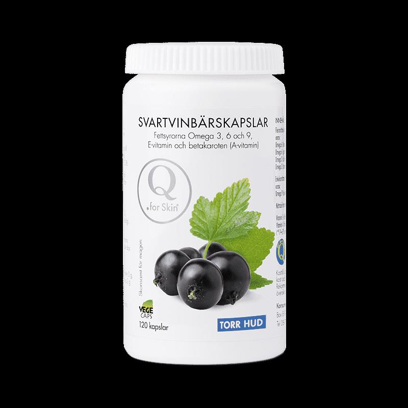 Vitaminer - Svartvinbärskapslar - Q for skin - Piggabutiken.se