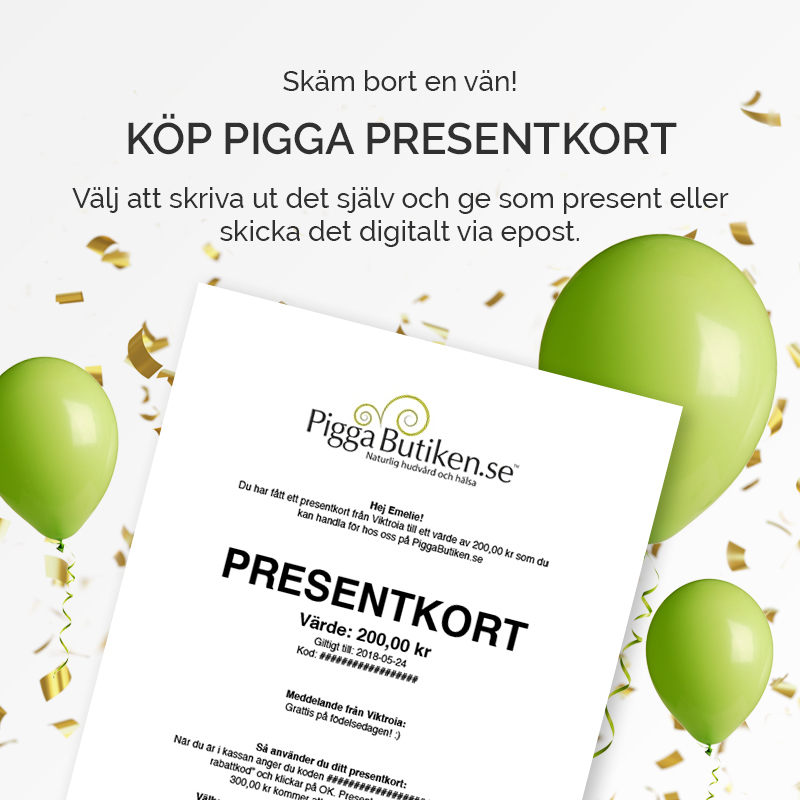 Presentkort, PiggaButiken.se